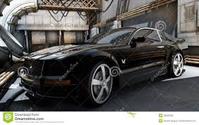 Black Mustang Car Black Mustang Sports Car Stock Photography Image 32093292