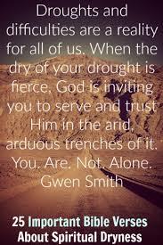 important bible verses spiritual dryness