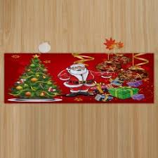 bath bed w16 inch l47 inch tree santa baubles