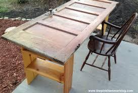 Door Desk Diy Door To New Desk Upcycle Diy The Pink Hammer