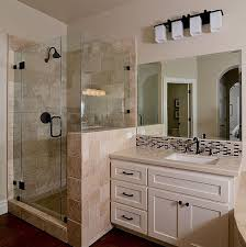 Images Of Modern Bathrooms Bathroom Modern Bathroom With Frameless Shower Tile And Stand Up