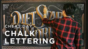 cheat day chalk lettering x neil torres youtube