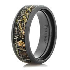 camo wedding rings black zirconium realtree max 4 camo ring titanium buzz