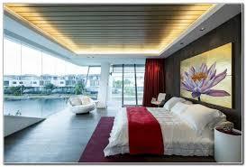 wandbild schlafzimmer naturstein fussboden rot akzente schlafzimmer decke len wandbild