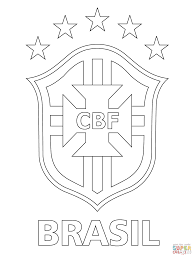 logo of brazilian football confederation coloring page free