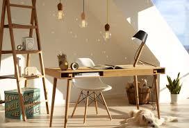 bureau etroit bureau étroit en chêne huilé équipé d un tiroir et d un espace de