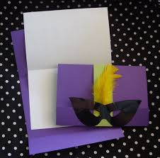 Invitation Cards Design With Ribbons Appealing Mardi Gras Masquerade Invitation Bi Fold Card With