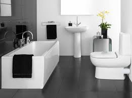 bathroom paint ideas with blacknd white tile gray wall color for