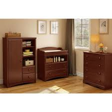 South Shore Changing Table South Shore Sweet Morning 2 Drawer Royal Cherry Changing Table
