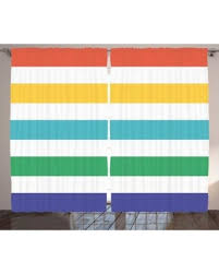 Red And White Striped Curtain Huge Deal On Striped Curtains 2 Panels Set Rainbow Colored And