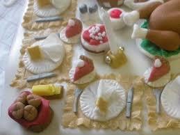 thanksgiving dinner table cake flickr