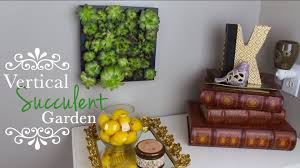 how to make a diy vertical succulent garden storeeofmylife youtube