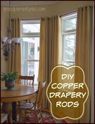 Copper Curtain Rods Diy Copper Drapery Rods Grandparentsplus