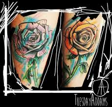 47 abstract flower tattoos