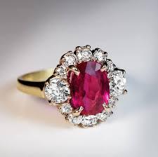 engagement ruby rings images Vintage no heat 2 71 ct burma ruby diamond engagement ring jpg