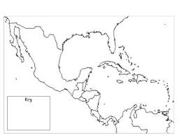 map of mexico and america mexico central america the caribbean outline map by