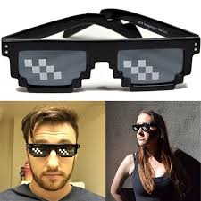 Pixel Sunglasses Meme - deal with it 8 bit pixel black framed glasses sunglasses meme thug