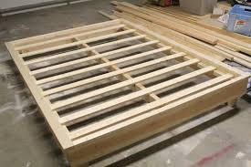 Build Platform Bed Impressive How To Build A Size Platform Bed Frame With