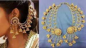 jhumka earrings with chain gorgeous bahubali side jhumka chain earring design
