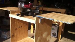 diy table saw stand with wheels diy mitersaw table youtube