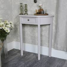 half moon console table with drawer half moon console table with drawer storage daventry grey range