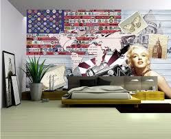 chambre marilyn 3d papier peint personnalisé mural non tissé 3d chambre papier