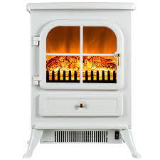 white electric fireplace make the room look elegant decorations