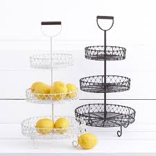3 tier fruit basket mayotte 3 tier stand white 30cm d x 57cm h this timber handled