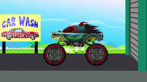 monster truck videos on youtube haunted house monster truck car wash cars for kids episode 2