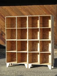 Unfinished Bookshelf All Unfished Modular Osb Bookshelf Cub Storage Unfinished Two