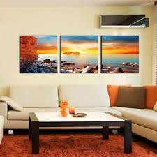 canvas wall art modern paintings sea sunrise waves landscape pictures prints on canvas for home decoration wooden framed to hang canvas painting wall art