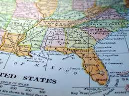 map usa southeast southeast map