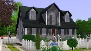 Cape Cod House mod the sims cape cod