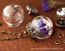 glass ball necklace images 25mm glass bubble ball pendant jewelry kit decorative antique jpg