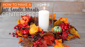 fall centerpieces diy centerpieces fall wreath candle centerpiece