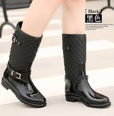 womens boots size 9 5 womens wellington wellies boots fur gingham waterproof