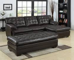 Sectional Sofa With Chaise Black Tufted Leather Sectional Sofa With Chaise And Bench Seat