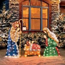 Outdoor Nativity Lighted - outdoor nativity scene