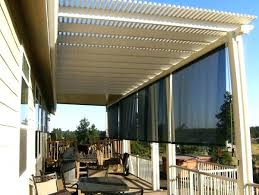 black rectangle l shade patio outdoor patio sunscreens roll up sun screens for patios