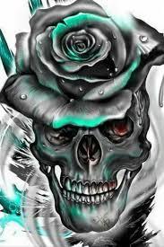 skulls roses pinteres
