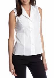 white sleeveless blouse calvin klein sleeveless wrinkle free shirt belk