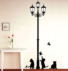 buy decals design ancient lamp and cats wall sticker pvc vinyl buy decals design ancient lamp and cats wall sticker pvc vinyl 60 cm x 90 cm black online at low prices in india amazon in