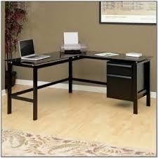 Metal L Shaped Desk Metal Computer Desk L Shaped Desk Blackblack Glass Tdm The Above
