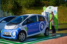 mitsubishi electric car abb fast charging station for electric vehicles launched at a lidl