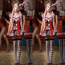 Ladies Clown Halloween Costumes Arrival Circus Clown Cosplay Costumes Halloween