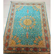 Turquoise Brown Rug Beautiful Ardibill Turquoise Silk Carpet 5x7