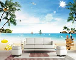 beibehang wallpaper for walls 3d seaside coconut trees beach beibehang wallpaper for walls 3d seaside coconut trees beach footprints beautiful scenery suitable for home decoration wallpaper in wallpapers from home
