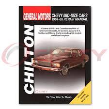 chevy monte carlo chilton repair manual cl base s landau ls sport