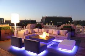 Outdoor Patio Lighting Ideas Pictures Unique Icy Blue Led Outdoor Lighting Ideas For Contemporary Patio