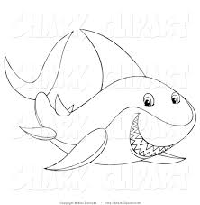 tiger shark clipart sea creature pencil and in color tiger shark